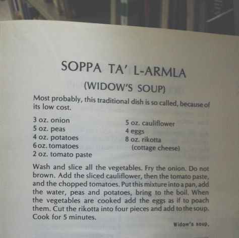 widow soup recipe